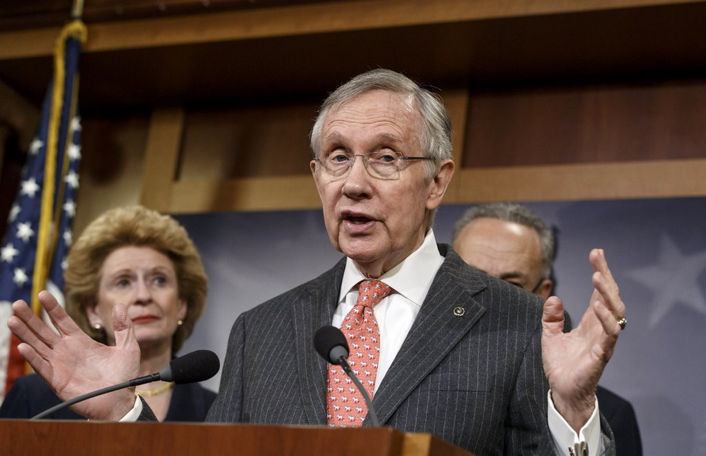 """. <p>9. HARRY REID <p>Blames Republicans for Russia�s annexation of Crimea because ... well ... he takes a LOT of medication. (unranked) <p><b><a href=\'http://www.huffingtonpost.com/2014/03/24/harry-reid-russia_n_5023060.html?utm_hp_ref=politics\' target=\""""_blank\""""> HUH?</a></b> <p>   (AP Photo/J. Scott Applewhite)"""