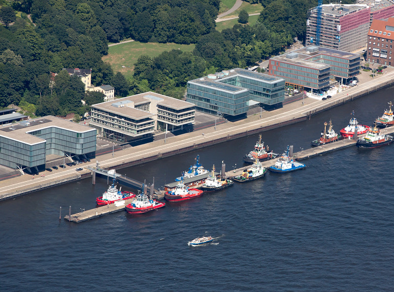 Schlepperbrücke Hamburg Luftbild