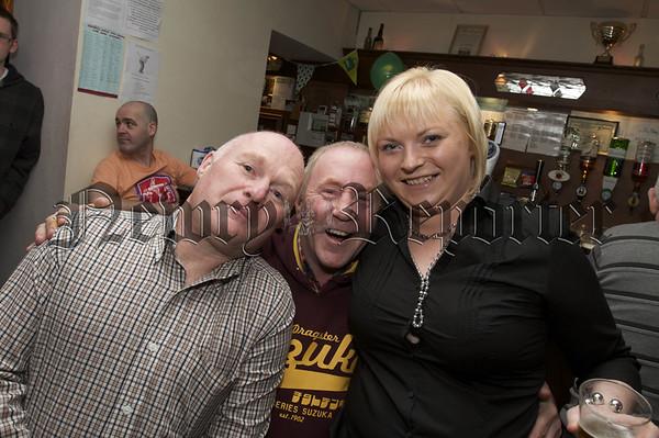 Charity Night in aid of Macmillan Nurses in the Armagh Down Bar.Chris Mc Guigan,(Captain of the Golf Society Armagh Down Bar),Garry Mc Anulty, Fiona Kavanagh.10W45N710