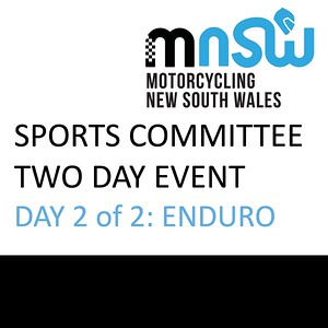 Sports Committee Event - Day 2 of 2 Enduro 18/10/2020