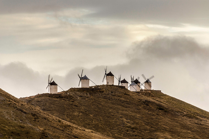 The windmills of Consuegra. Winter view