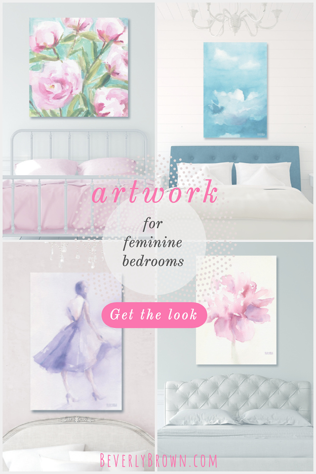 artwork for feminine bedrooms by Beverly Brown