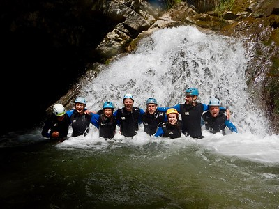 Canyoning near Annecy, France