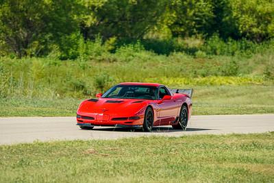 Red C5 Z06 Corvette