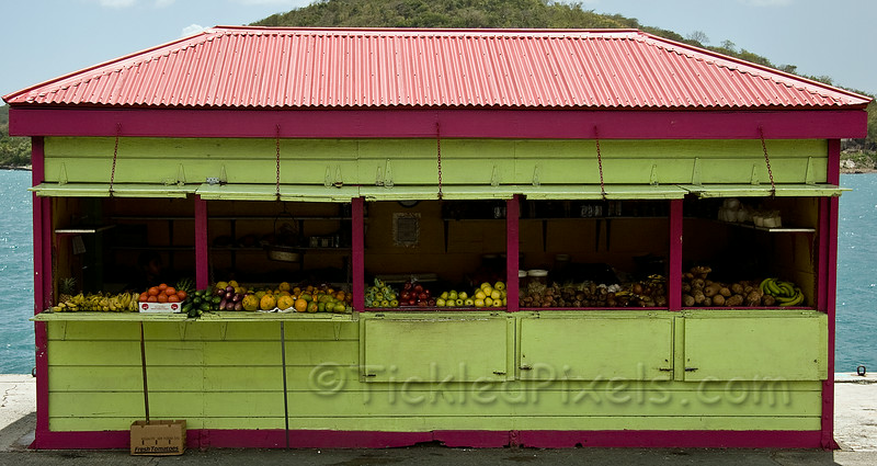 Fruit and Vegetable Vendor in Charlotte Amalie
