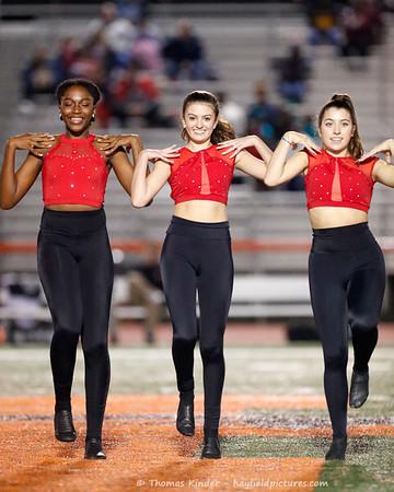 Dance Team at Mount Vernon Football Game 10/25/19