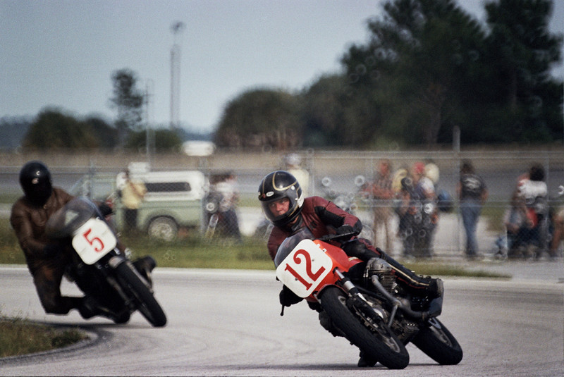 Madison Cox at Daytona, October 1981.  Devin Battley (5) in the background.