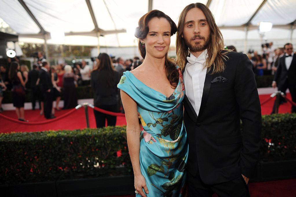 . Juliette Lewis and  Jared Leto on the red carpet at the 20th Annual Screen Actors Guild Awards  at the Shrine Auditorium in Los Angeles, California on Saturday January 18, 2014 (Photo by Hans Gutknecht / Los Angeles Daily News)