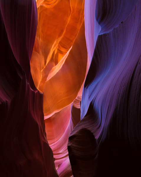 Lower Antelope Canyon. I bracketed 3 RAW shots in all my photos and at times I needed the brightest, the normal or the underexposed to get the best overall results.