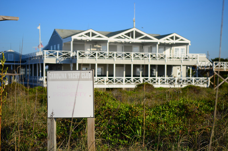 Carolina Yacht Club as seen from the beach.
