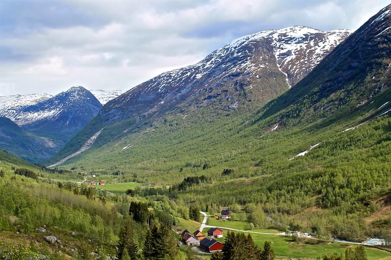 Krundalen looking toward Gjerde Norway.