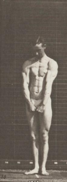 Man in pelvis cloth posing