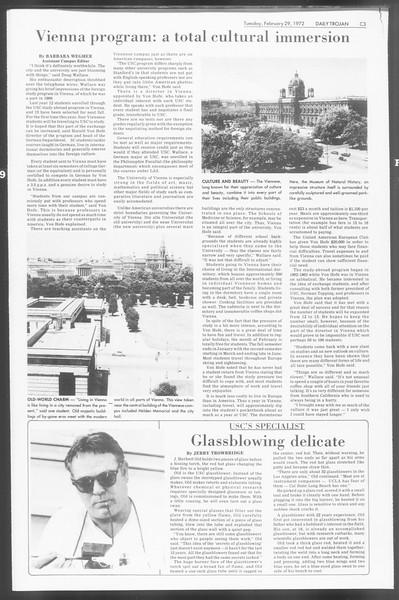 Daily Trojan, Vol. 64, No. 78, February 29, 1972