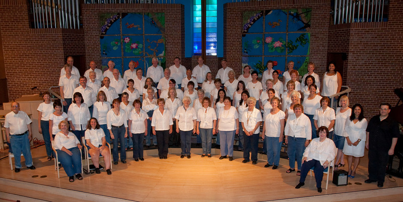 """On a hot summer night, the Fun Times Singers provided a concert of tunes about places and traveling, called """"Come Fly With Me"""""""