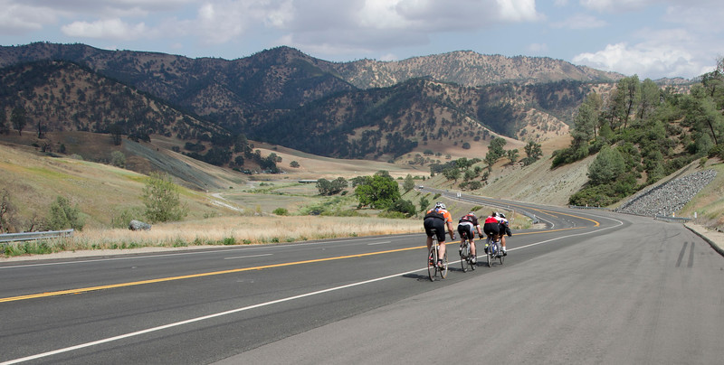 The descent into Bear Creek Valley