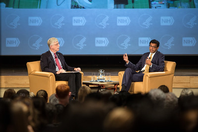 WALS-Dr. Atul Gawande with NIH Director Dr. Francis S. Collins