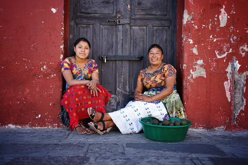 Local women; Antigua, Guatemala