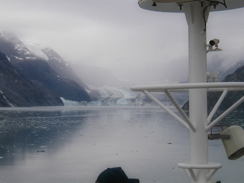 Views from the cruise ship, in Alaska (in July).
