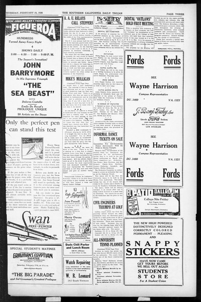 Daily Trojan, Vol. 17, No. 96, February 25, 1926
