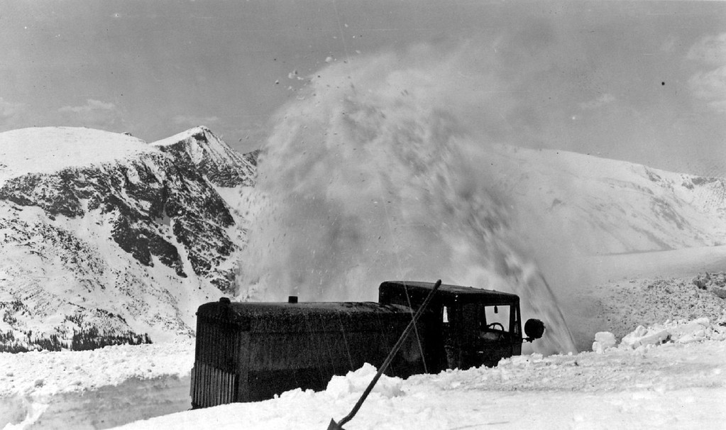. Clearing Trail Ridge Road, Rocky Mountain National Park , Colorado in 1933. (Denver Post Library photo archive)