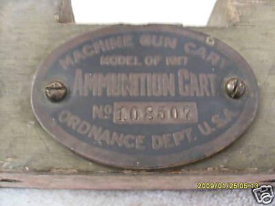 MODEL OF 1917 MACHINE GUN CART #108507
