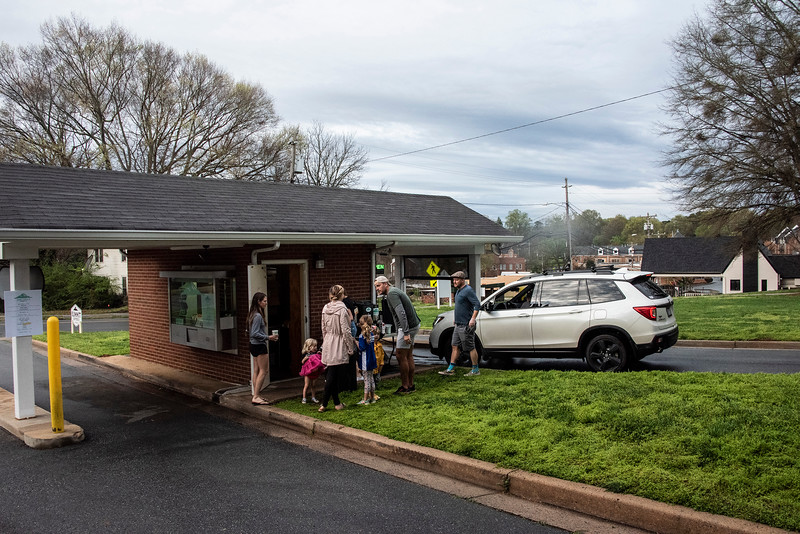 Summit Coffee made arrenagements to operate for 60 days in the former drive-through bank.