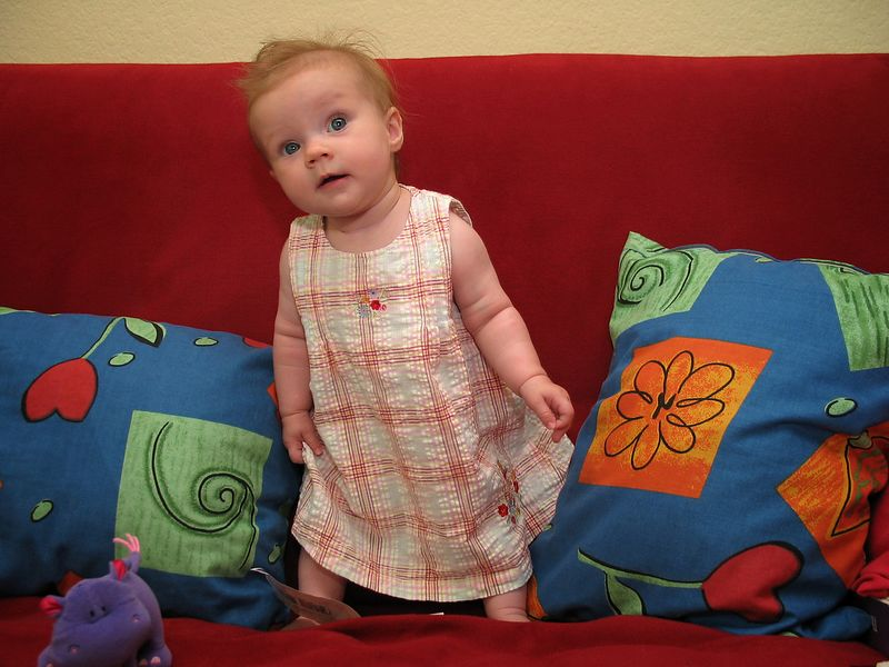 08/31 - This was the first time when Lili tried to stand while leaning on the futon
