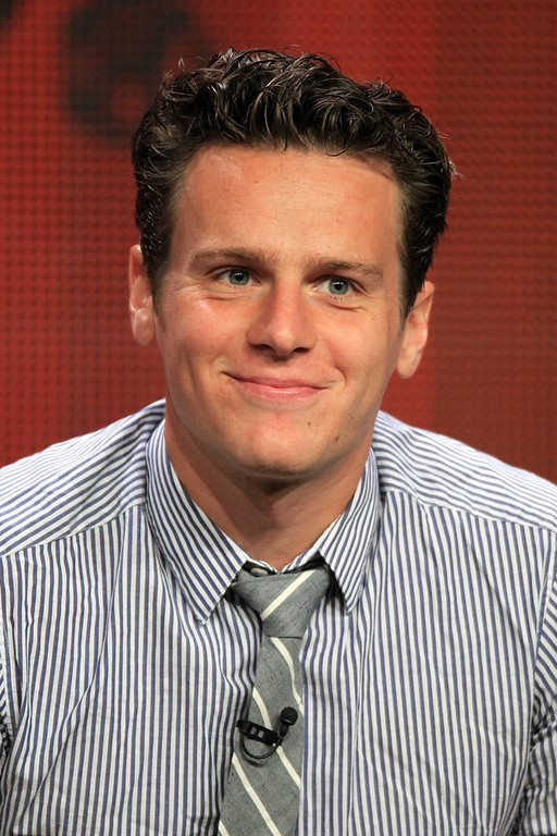 . Actor Jonathan Groff speaks at the \'Boss\' discussion panel during the Starz portion of the 2012 Summer Television Critics Association tour at the Beverly Hilton Hotel on August 2, 2012 in Los Angeles, California.  (Photo by Frederick M. Brown/Getty Images)