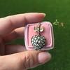 Victorian Revival Heart and Bird Rose Cut Diamond Pendant 6