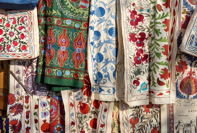 Colourful Fabrics, Khiva