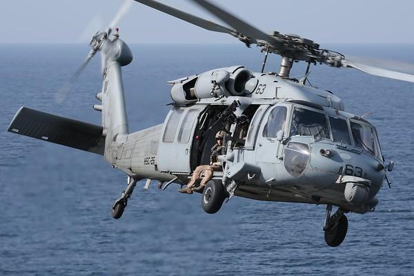 """US Navy MH-60S """"Knighthawk"""", Arabian Gulf, 03Nov18"""