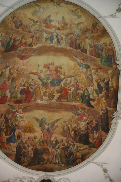 Painting on the ceiling of the cathedral.