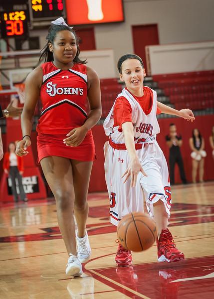 St. John's fan & cheerleader
