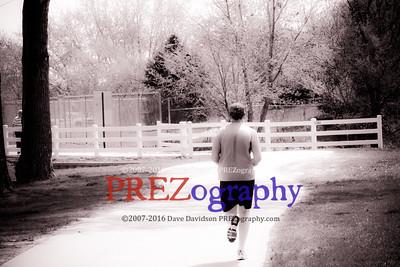 Bob Running Along Missouri River