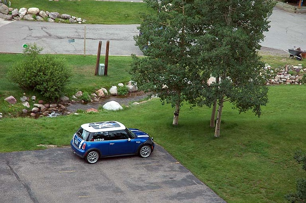 MINI enjoys the nearby babbling brook.