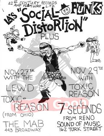 Social Distortion - 7 Seconds - Lewd - Toxic Reasons