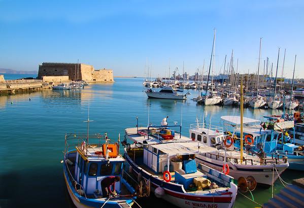 The town of Heraklion, Crete