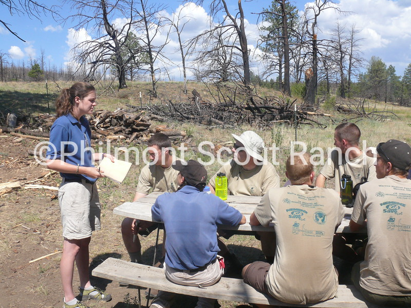 Scouts are instructed about Leave No Trace Camping at Dan Beard.JPG