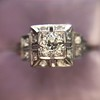 0.58ctw Old European Cut Diamond Art Deco Illusion Ring 14