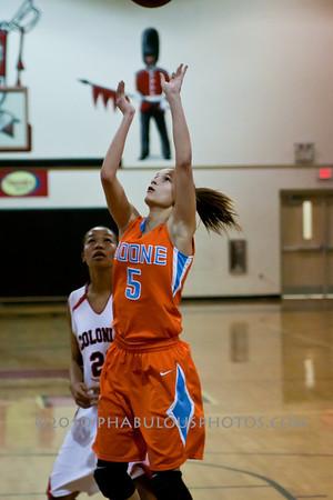 Boone @ Colonial High School Girls Varsity Basketball - 2010