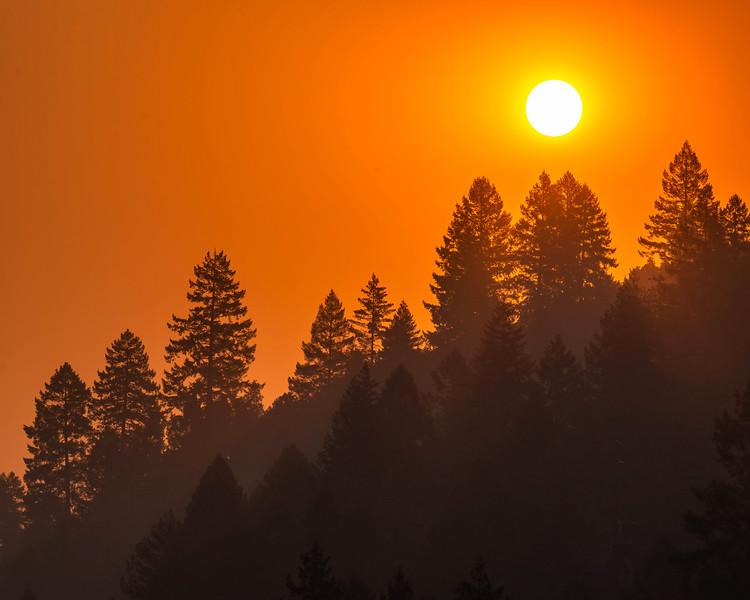 Smokey Sunrise on the Rogue River
