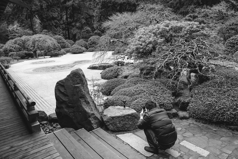 Worshiping in a Japanese Garden