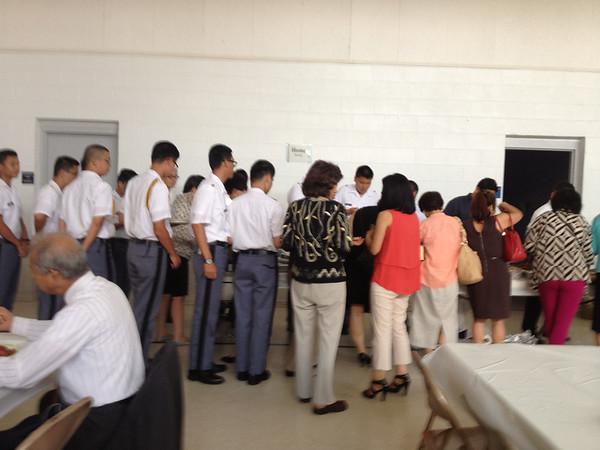 Cadets Attend Korean Church Service