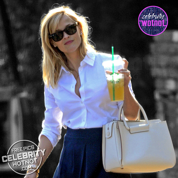 EXCLUSIVE: Reese Witherspoon On The Go In A Smart Outfit, LA