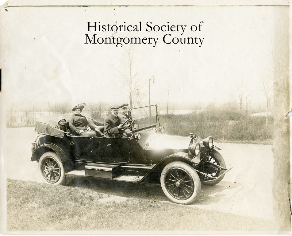 . Herman T. Lukens and family take a drive in this undated Historical Society of Montgomery County photo.