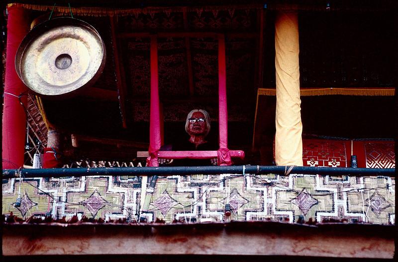 Toraja funeral with grandmother's Tau Tau