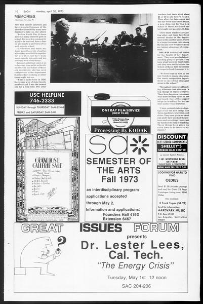 SoCal, Vol. 65, No. 116, April 30, 1973