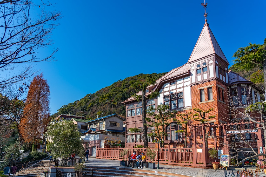 Western-style mansion in Kitano-cho, Kobe. Editorial credit: Shawn.ccf / Shutterstock.com
