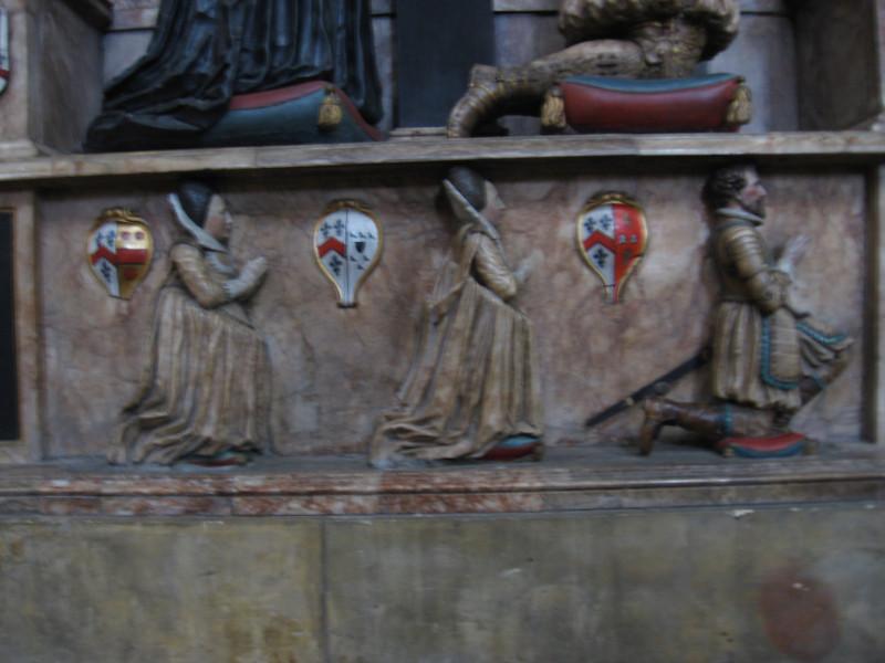 Detail of tomb, York Minster