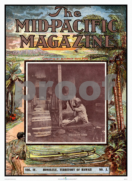 231: The Mid-Pacific Magazine Cover from 1912. (PROOF watermark will not appear on your print)